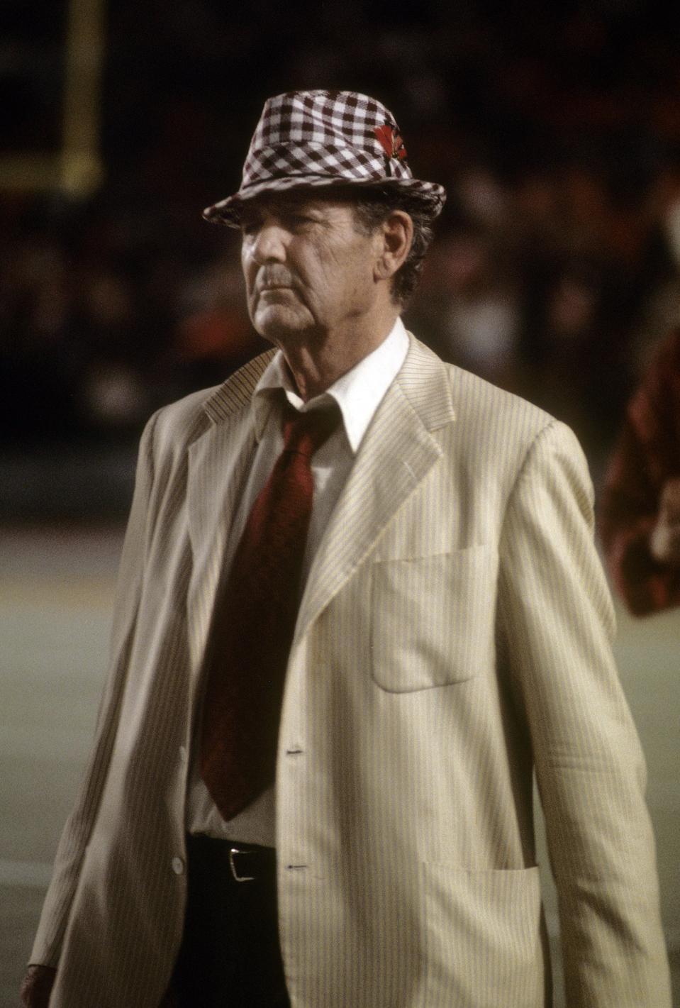 Head Coach Paul ″Bear″ Bryant of the Alabama Football team.