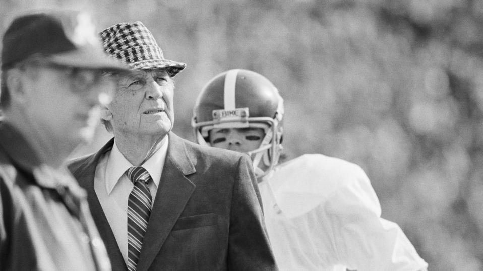 Alabama head coach Paul ″Bear″ Bryant.