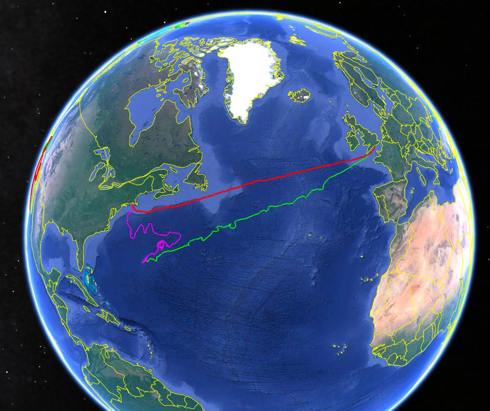 Saildrone missions across the ocean