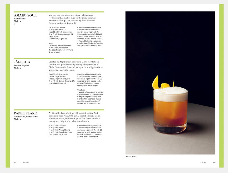 spread from new cocktail book, Spirited by Adrienne Stillman and published by Phaidon