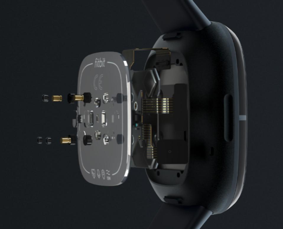 Screenshot of the technology inside the Fitbit Sense.