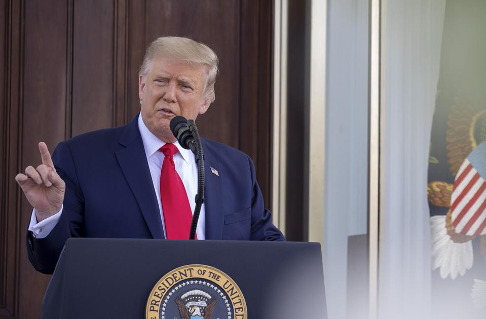 President Trump Holds News Conference At The White House On Labor Day