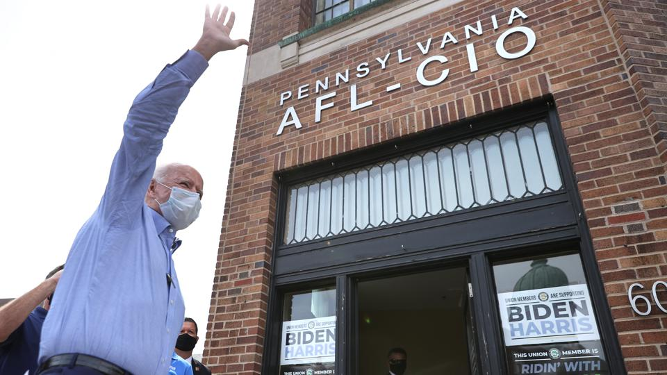 Democratic Presidential Nominee Joe Biden Campaigns In Harrisburg, PA