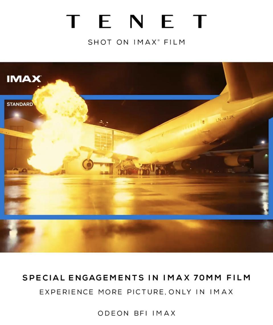 IMAX see more Tenet