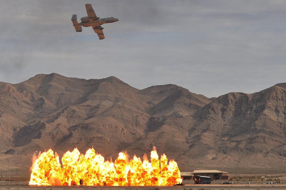 Cluster bomb attack
