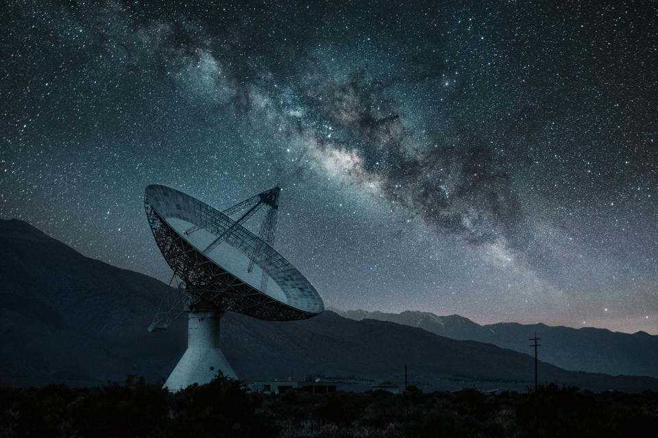 The study used telescopes searching for powerful radio emissions at frequencies similar to FM radio, which could indicate the presence of an intelligent source.