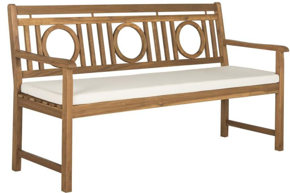 West Elm Acacia Wood Outdoor 3-Seat Bench