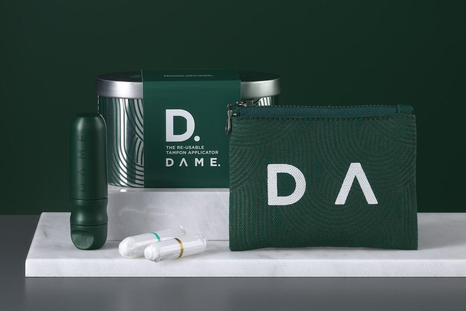 DAME's reusable tampon applicator and organic tampons