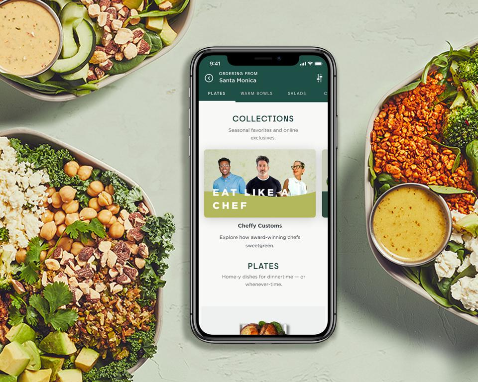 Sweetgreen's new digital-only Collections menu.