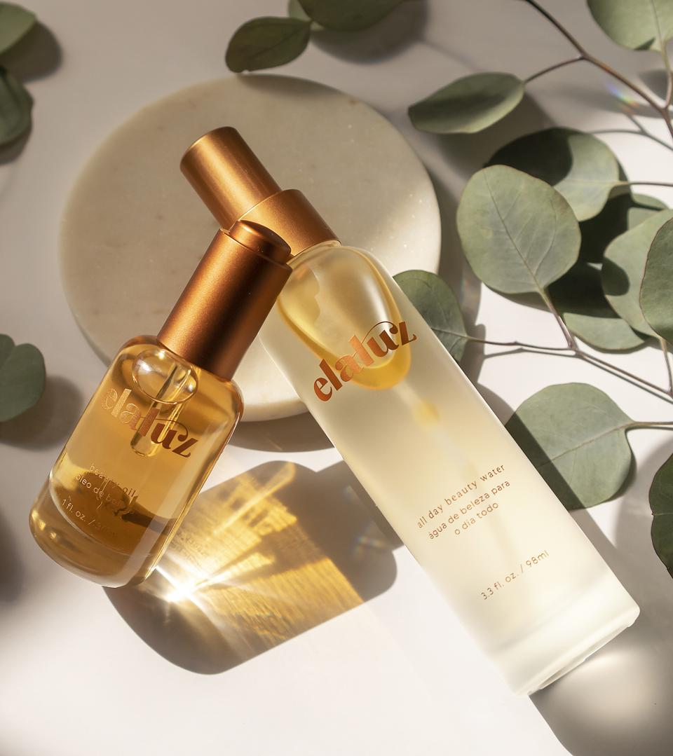 Elaluz beauty water and oil.