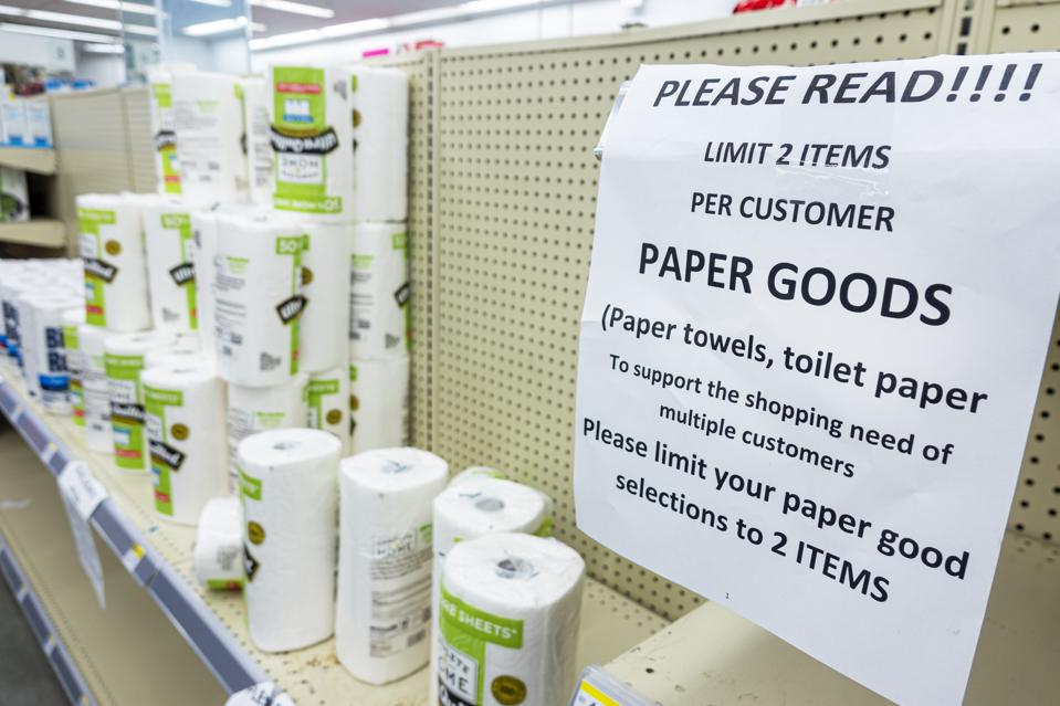 Miami Beach, Walgreens pharmacy, limit 2 per customer on paper products, Ultra Quilted Paper Towels