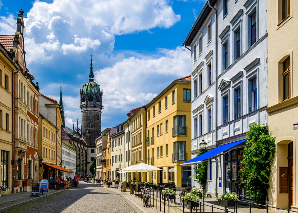 Importance of wildlife conservation in points - old town of Wittenberg in Germany