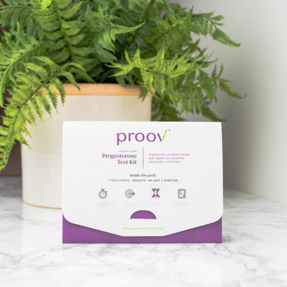 Proov is an FDA-approved at-home test that measures progesterone.
