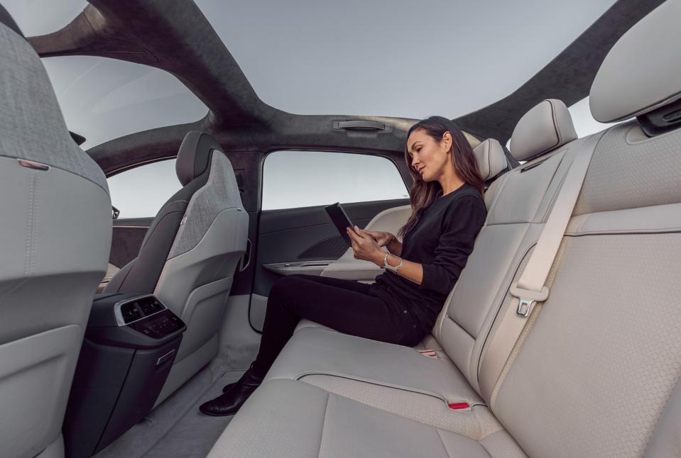 2021 Lucid Air with standard rear foot room