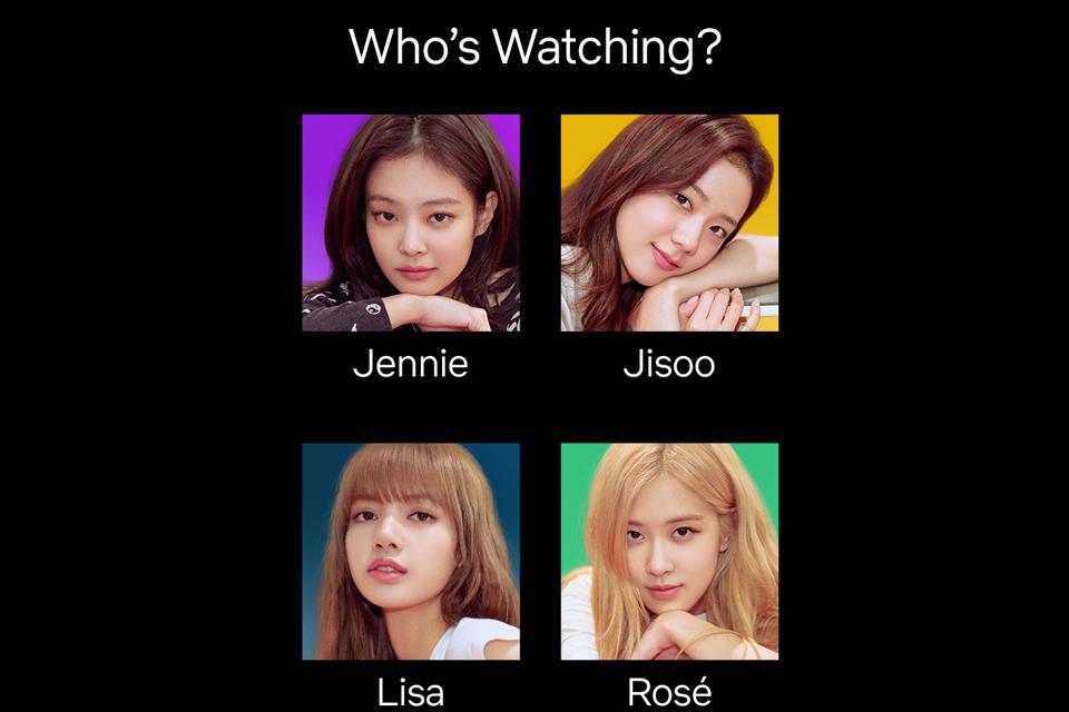 BLACKPINK Light Up the Sky for Netflix Jennie Jisoo Lisa Rose kpop netflix users