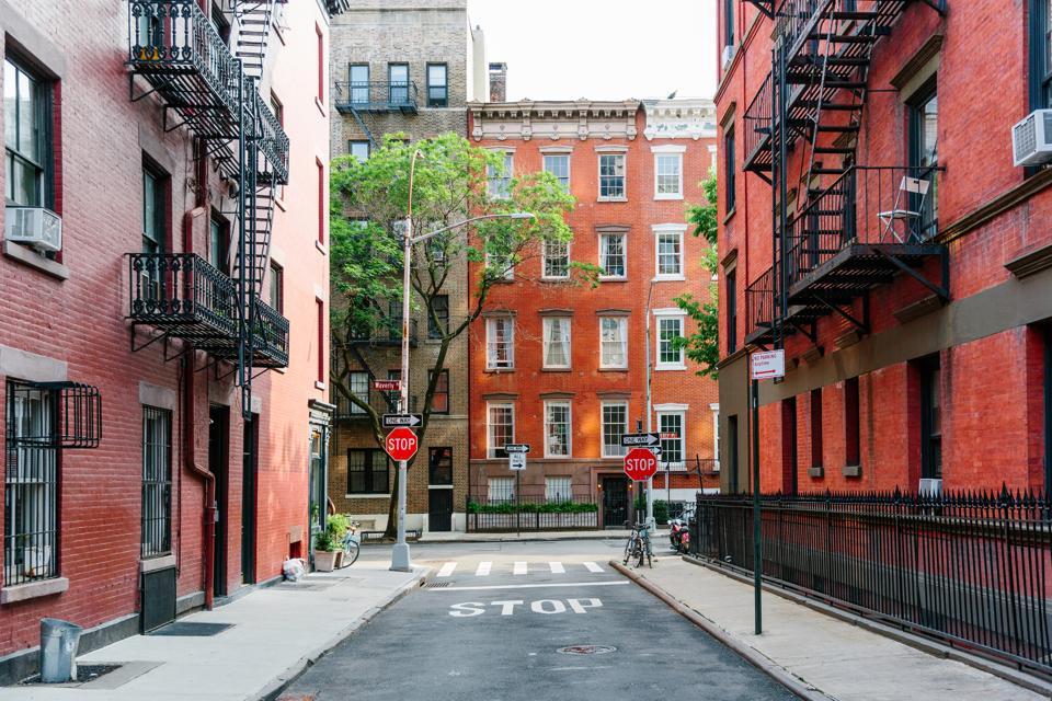 Street in Greenwich Village, New York City, USA