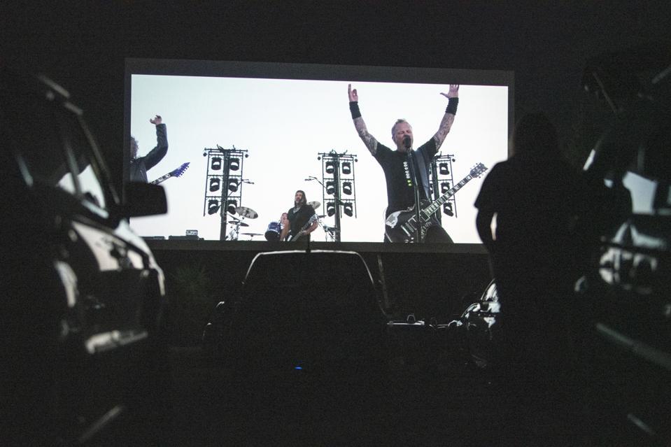 Encore Drive-In Nights Screen Metallica Concert