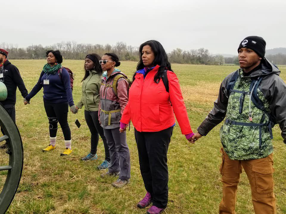 Black people in the outdoors.