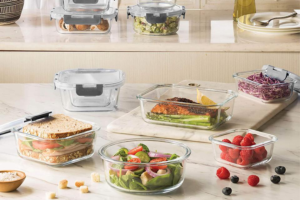 FineDine 24-Piece Superior Glass Food Storage Containers Set