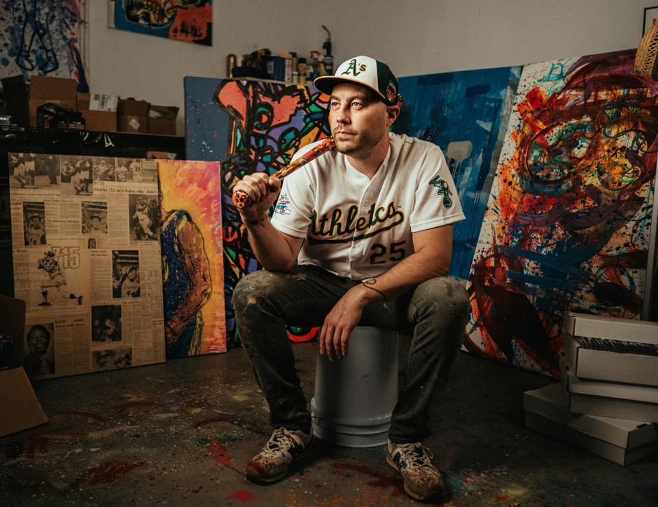 Blake Jamieson poses in his Long Island City, New York studio.