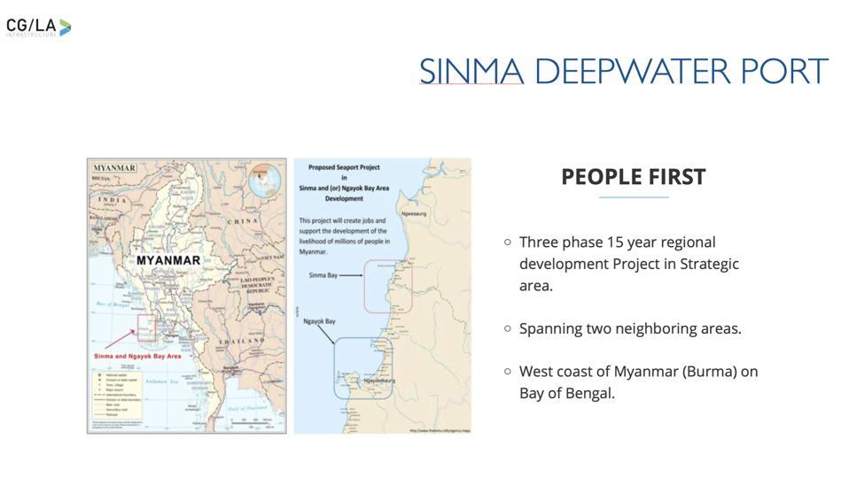 Deepwater port project in Myanmar