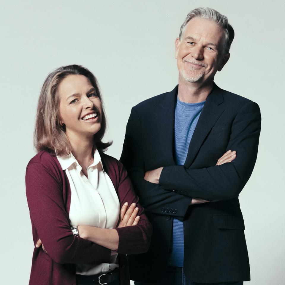 Co-authors Erin Meyer and Reed Hastings.