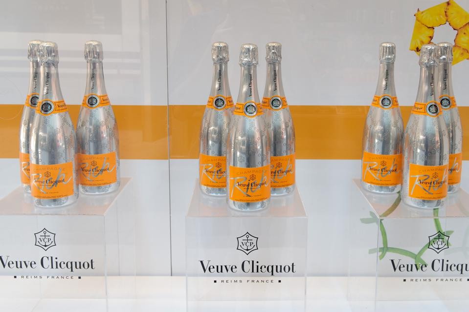 Champagne sales are up 73% in the U.S.