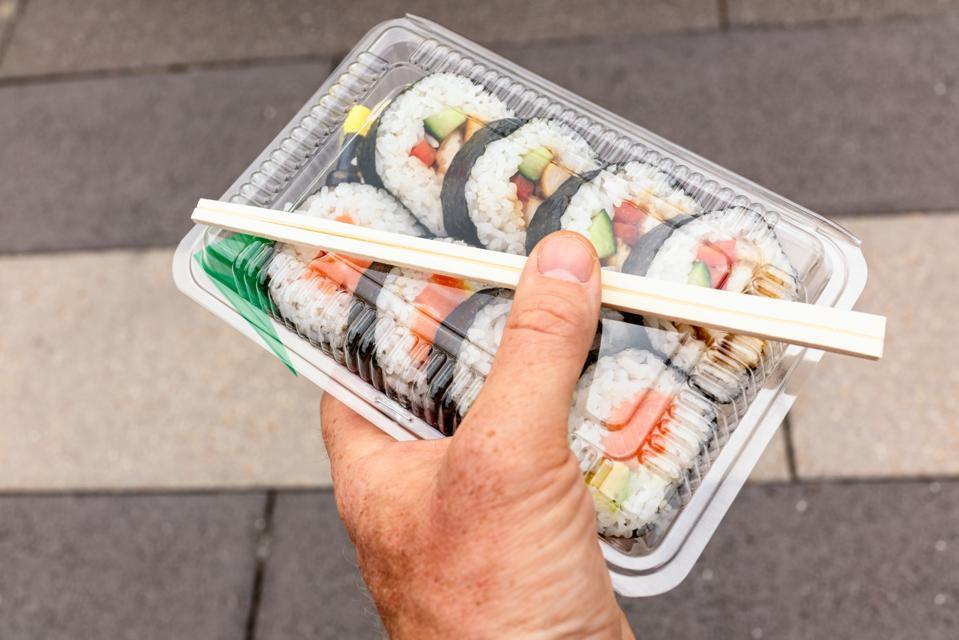 Pre-prepared sushi sales are up 50% in the U.S.