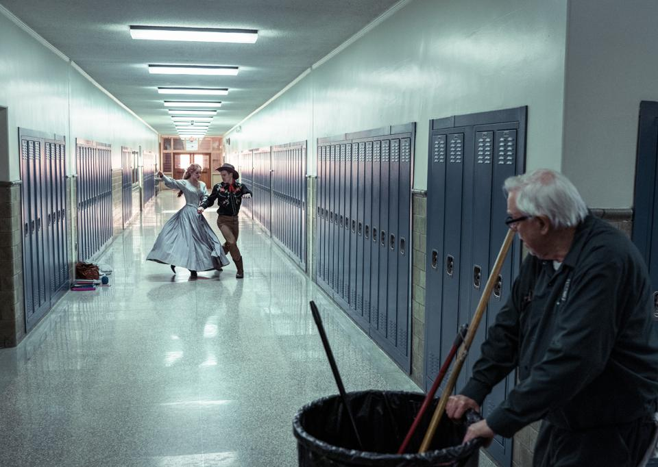 The janitor and his fantasies, from Netflix's ″I'm thinking of ending things″