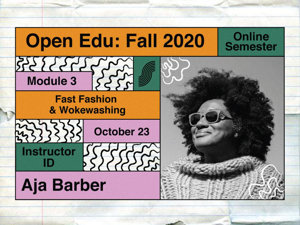 Writer, Aja Barber, who is instructing a course for the Slow Fashion Foundation Open Education program.