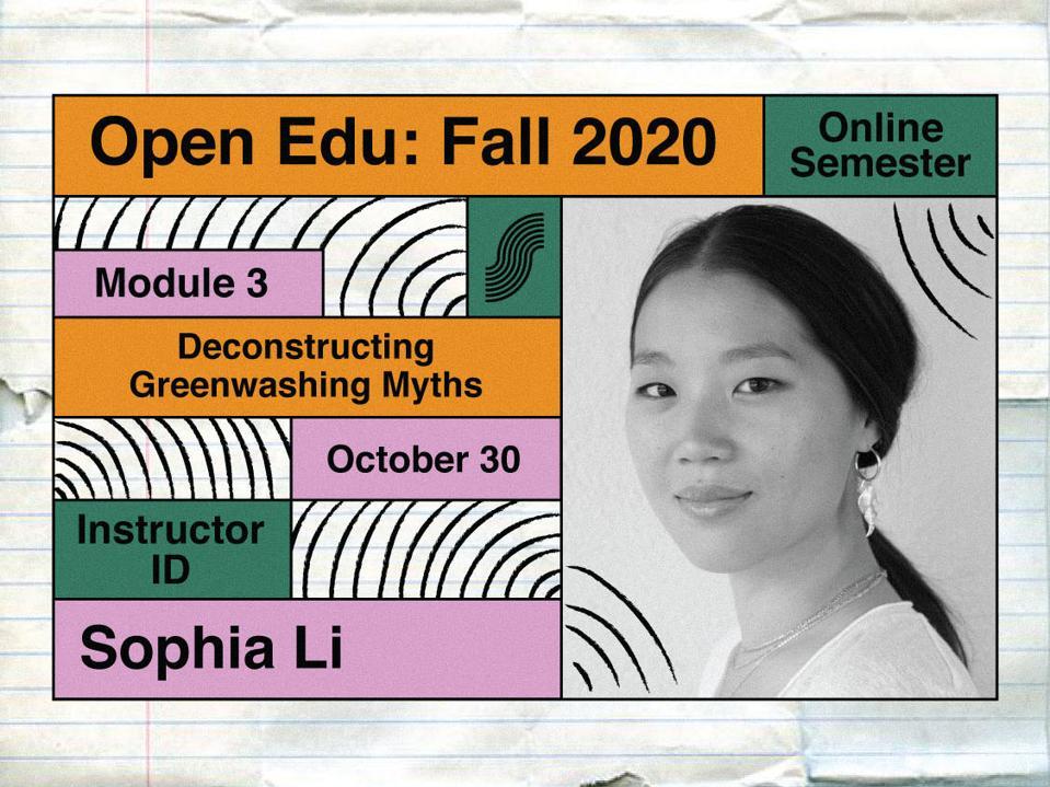 Fashion Editor, Sophia Li, who is instructing a course for the Slow Fashion Foundation Open Education program.