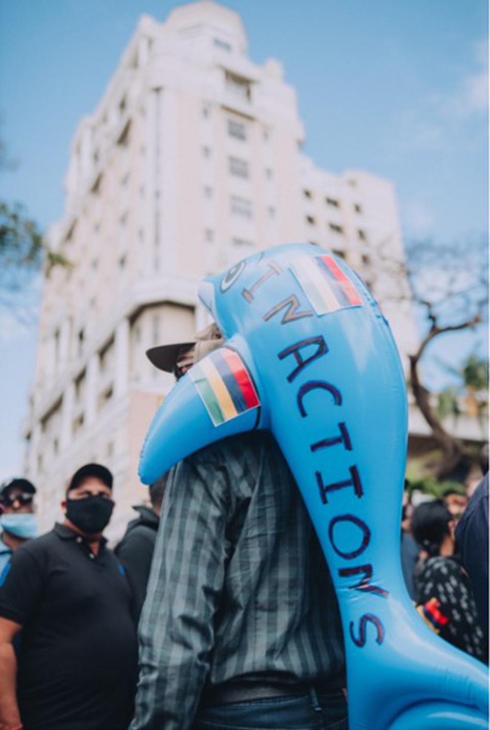 29 August 2020: National protests were held in Mauritius on the environmental impact of the Wakashio oil spill and what is being seen as a clamp down on democracy in the country.