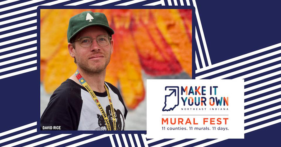 David Rice of Portland, Oregon is among the muralists from outside of Indiana participating in the inaugural ″Make It Your Own Mural Fest.″