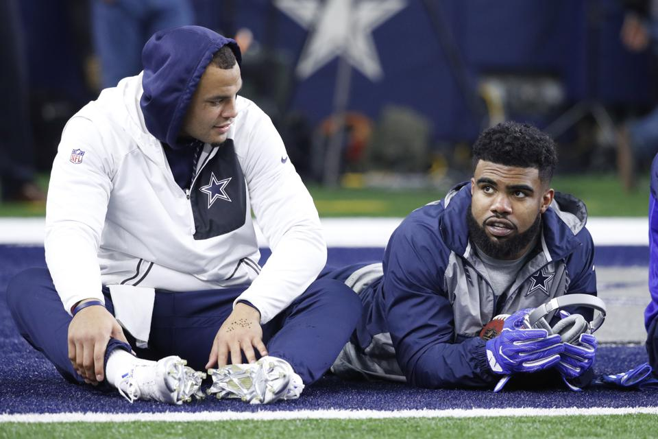 Dak Prescott and Ezekiel ″Zeke″ Elliott - Green Bay Packers v Dallas Cowboys