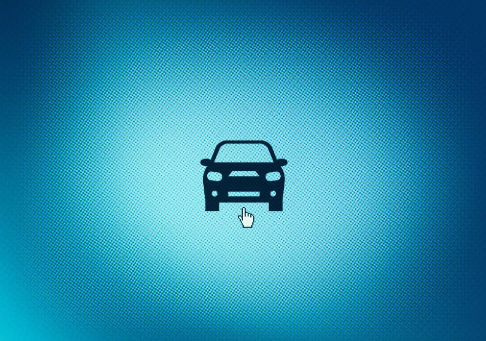 Car icon on screen