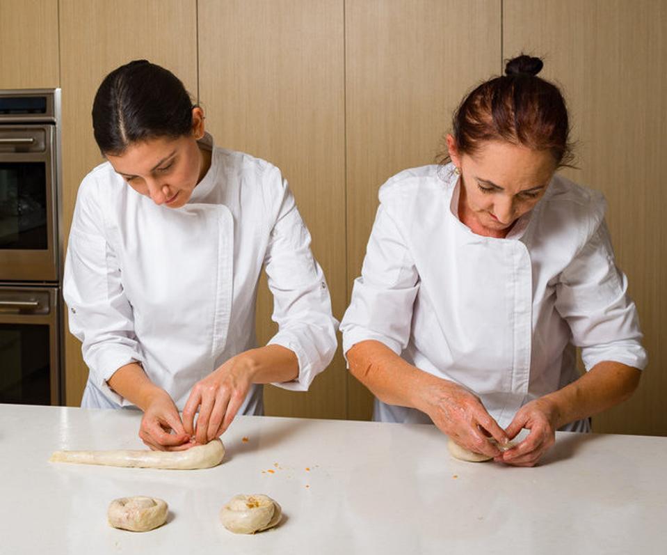 Ariana and Alida making burek