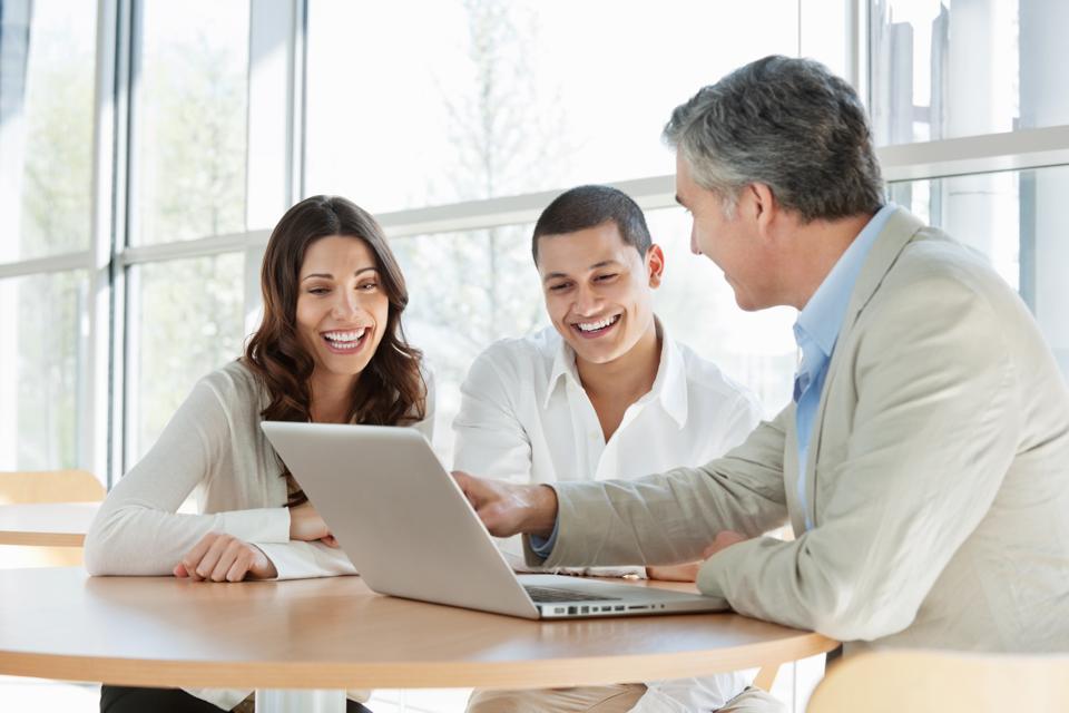 Financial Consultant Advising Couple