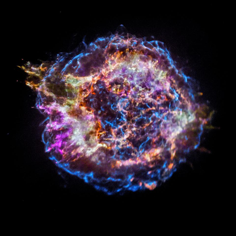 Cassiopeia A was not observed in the 1600s.