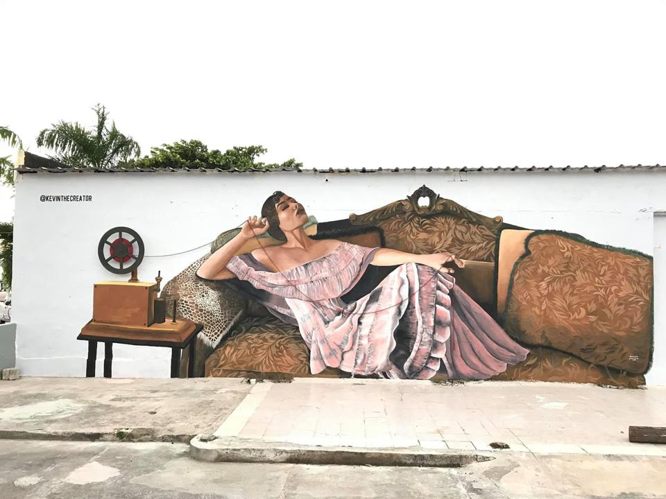 ″El Hilo Rojo″ by Kevin The Creator in Arroyo, Puerto Rico