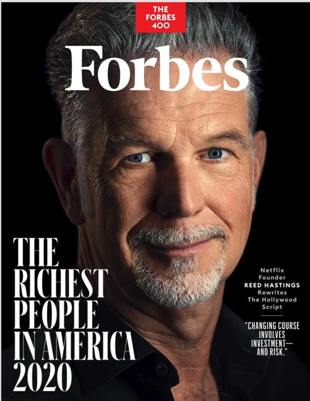 Reed Hastings on Forbes Cover