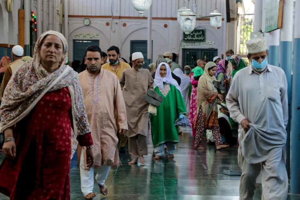 Religious Gathering in Downtown Srinagar
