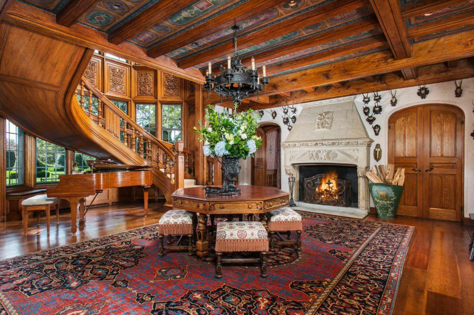 A baronial living room