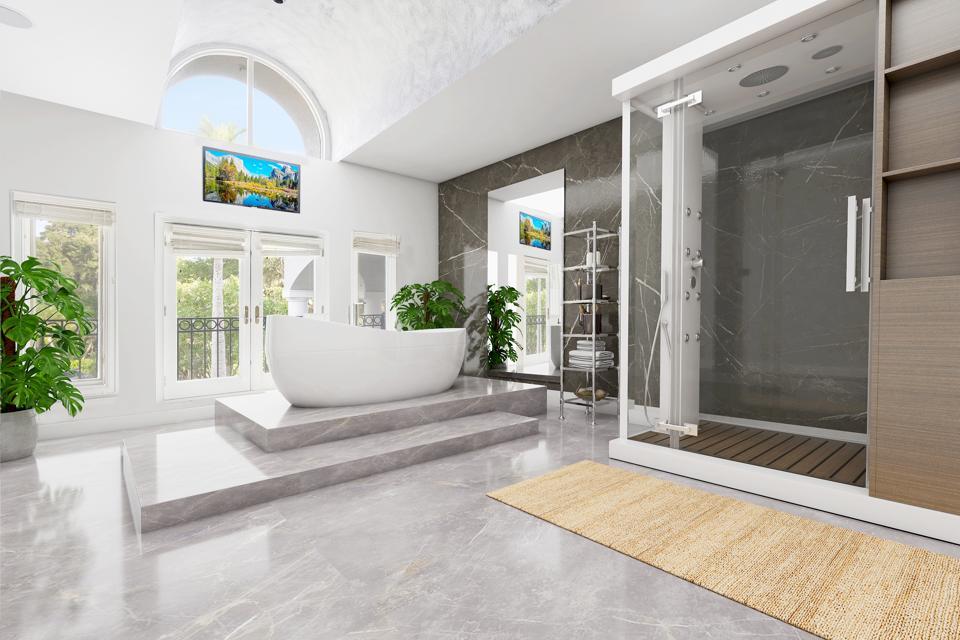 Master bathroom, Shaq, Windermere, Florida, Compass, NBA, Orlando, Isleworth Golf & Country Club