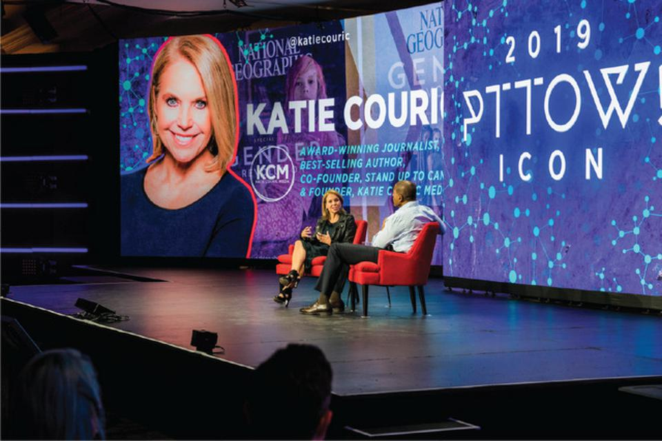 Katie Couric on stage at PTTOW! 2019
