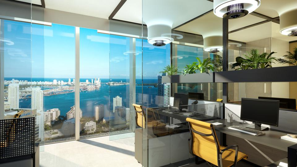 Office build-out at 830 Brickell, Miami