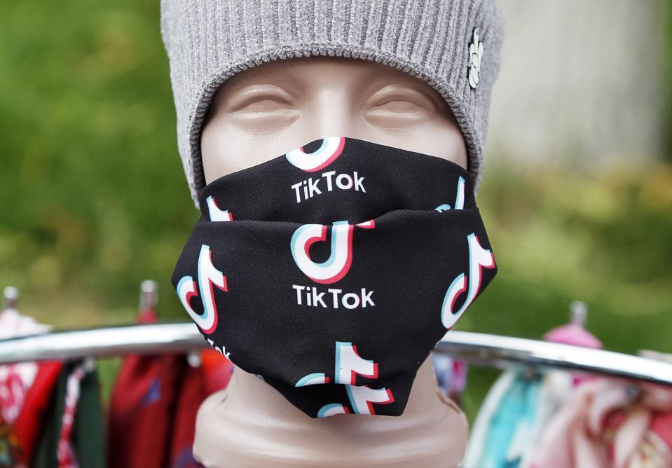 The social media video-sharing application TikTok logo