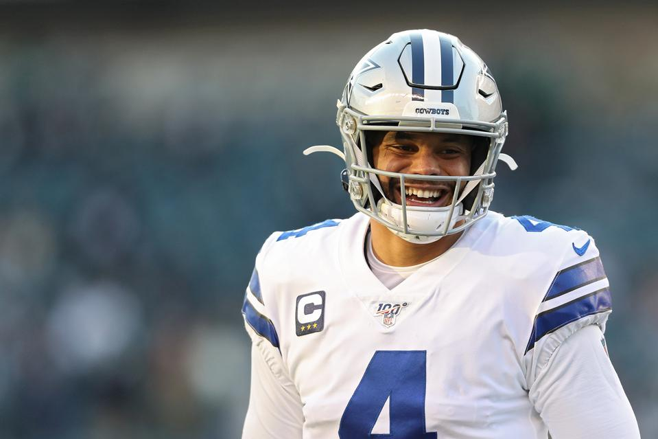 NFL quarterback Dak Prescott of Dallas cowboys