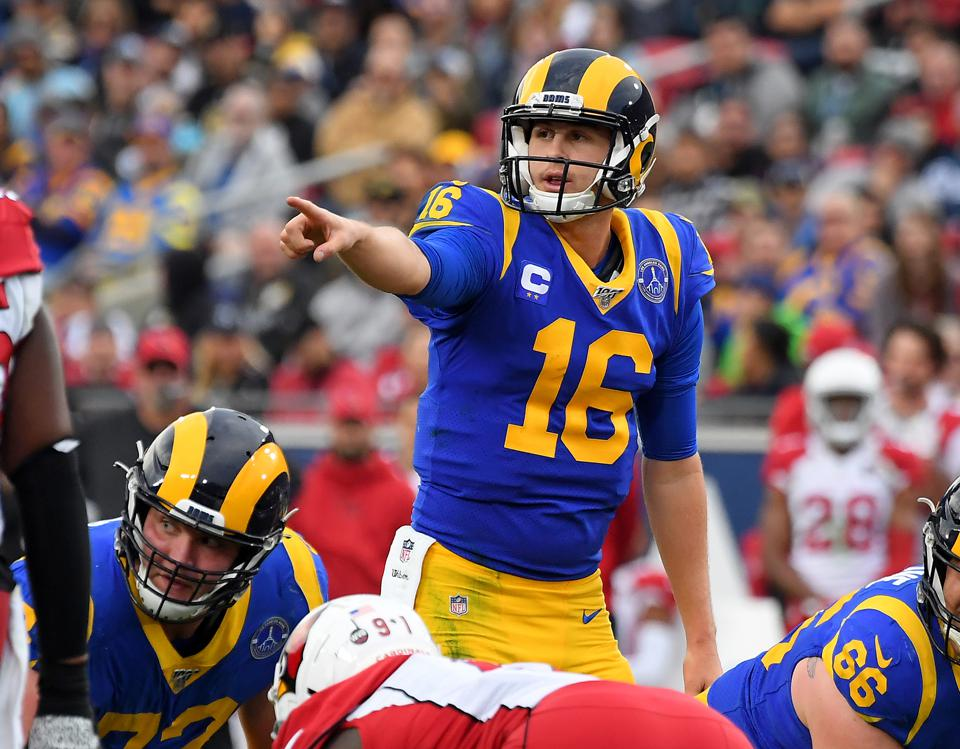 NFL QB Jared Goff do Los Angeles Rams