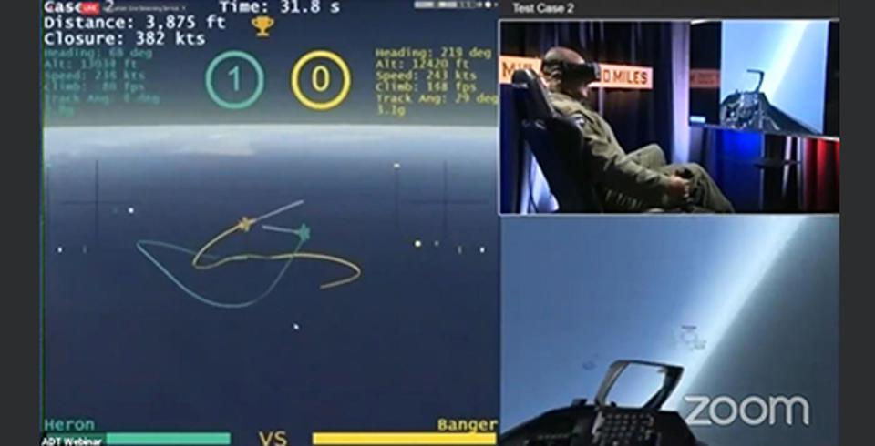 Air to air combat simulation