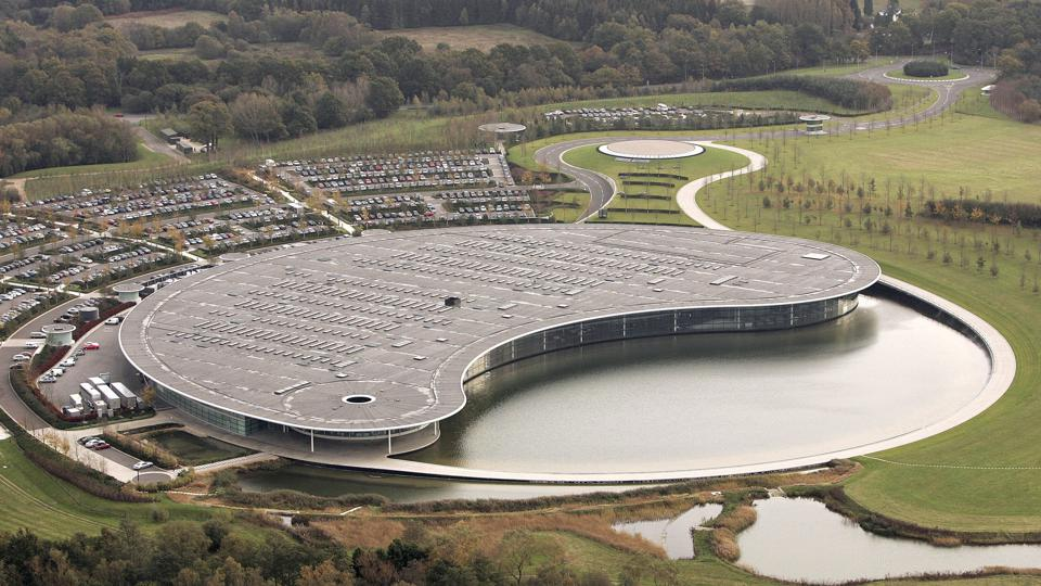 The striking McLaren Technology Centre houses the second oldest team in Formula One.